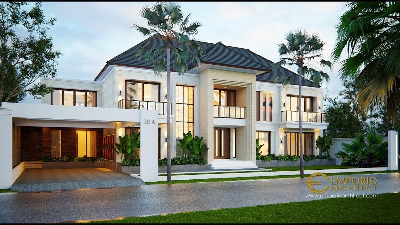 Video 3D Desain Rumah Villa Bali 2 Lantai Bapak Yudi di Kutai Kartanegara