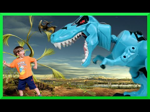 Jurassic World Hero Mashers Toys R Us Exclusive T Rex Toy Review and MashUp