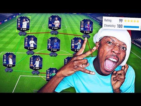 OMG FULL TOTY TEAM!! FULL TEAM OF THE YEAR FUT DRAFT CHALLENGE - FIFA 18