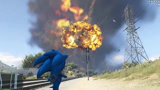 GTA 5 Mod - Sonic vs Rocket, Ai Nhanh Hơn?