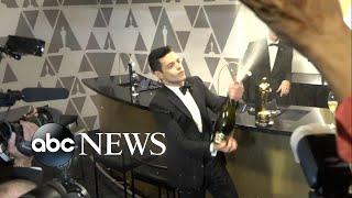 Backstage with Oscar winners Regina King, Rami Malek and more