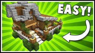Simple Stylish Survival House Minecraft Tutorial