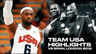 Team USA Highlights vs Spain |HD| EVERY BASKET | Final 2012 Olympic Games