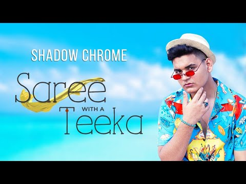 Shadow Chrome | Saree with Teeka
