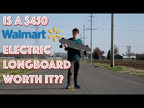 Is a $450 Electric Longboard From Walmart Worth It?? || LIFTBOARD Single Motor Review