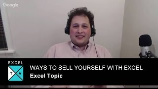 Ways To Sell Yourself With Excel