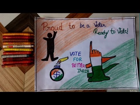 How to draw  election  drawing//how to draw vote for better India drawing//