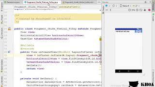 Bài 17: Thiết kế layout fragment chủ đề , thể loại và gắn dữ liệu vào layout