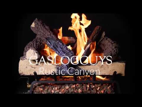 GasLogsGuys Rustic Canyon Charred Oak Vented Gas Log Set