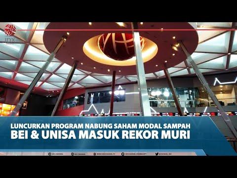 LUNCURKAN PROGRAM NABUNG SAHAM MODAL SAMPAH, BEI & UNISA MASUK REKOR MURI