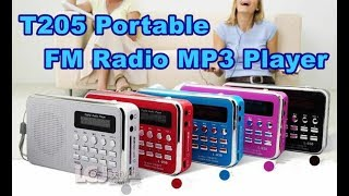 T205 Portable FM Radio MP3 Player