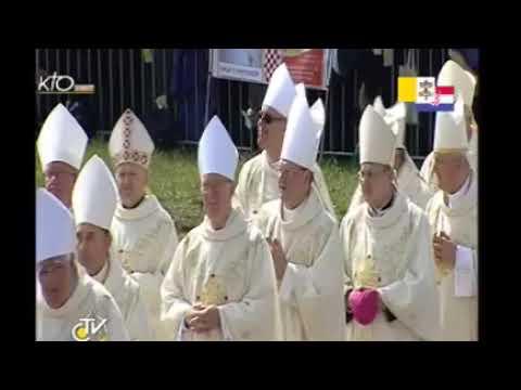 Messe à l'hippodrome de Zagreb