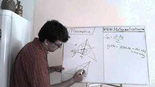 Planimetrie 4 - příklad 3 - trojúhelník a kružnice vepsaná