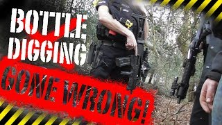 Bottle digging goes wrong! ARMED POLICE...