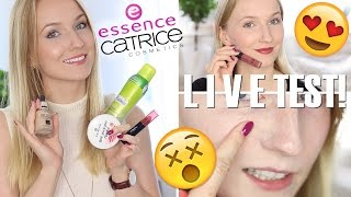 LIVE TEST NEUE ESSENCE & CATRICE PRODUKTE + VERLOSUNG  TheBeauty2go