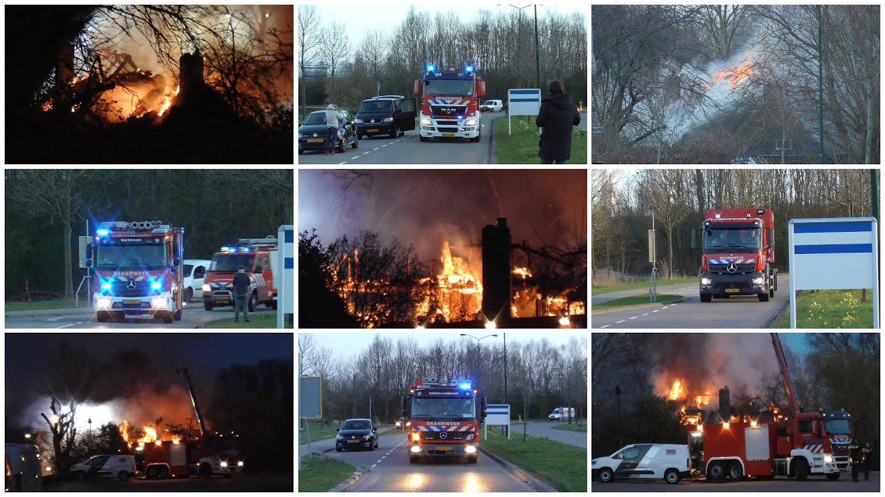 #88 Grote brand in Dordrecht verwoest woning en schuur, brandweer met veel materieel onderweg!