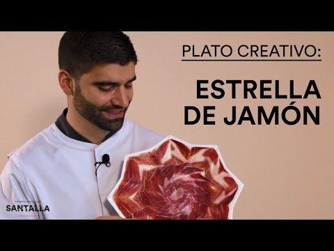 Plato creativo de jamón