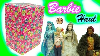 Giant Box Of Fantasy Gold Label Collector Barbie Dolls Haul   - Cookieswirlc