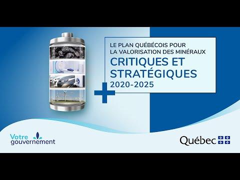 Plan québécois pour la valorisation des minéraux critiques et stratégiques
