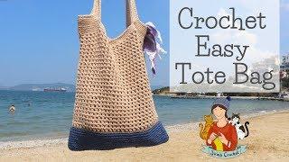 Crochet Easy Summer Tote Bag #4