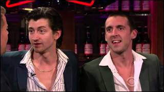The Last Shadow Puppets interview on The Late Late Show with James Corden