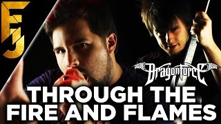 """Through The Fire and Flames"" Feat. Caleb Hyles - Dragonforce Guitar Cover 