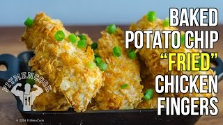 Baked Potato Chip Fried Chicken using Quest Protein Chips / Pollo Frito al Horno utilizando Chips