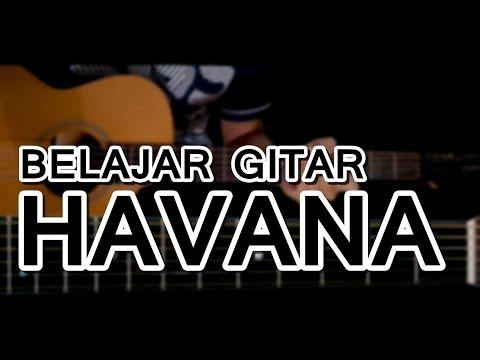 Belajar chord kunci gitar havana   camila cabello  mudah dengan gambar animasi    easy lesson