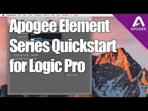 How to Setup Apogee Element Audio Interfaces with Logic Pro X