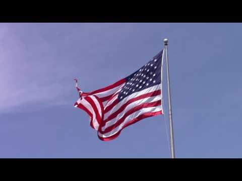 American Flag Waving [Royalty Free Video] 1080p 60fps