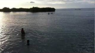 preview picture of video 'Children playing in the water at Nabila, Fiji'