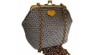 Pochette Clic Clac Anna Mel C Bags Handmade Punto Canestro Doppio