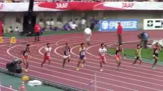 今日は男子100m予選!去年のレースから振り返ってみよう