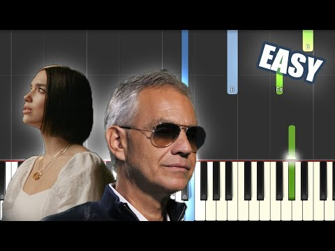 If Only - Andrea Bocelli Ft. Dua Lipa EASY PIANO TUTORIAL By Betacustic - Betacustic