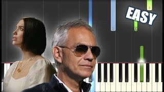 If Only   Andrea Bocelli Ft. Dua Lipa EASY PIANO TUTORIAL By Betacustic