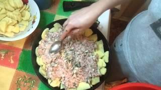 Картофельная запеканка с фаршем. Очень вкусно !!!