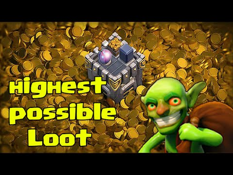 Clash Of Clans Highest possible Loot