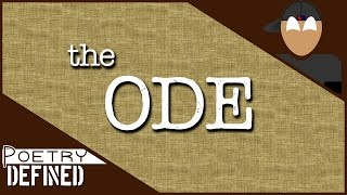 The Ode | #PoetryDefined