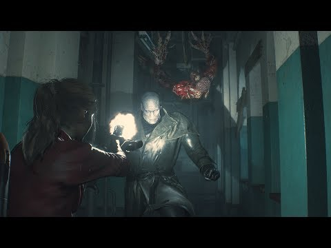 Resident Evil 2: Claire Gameplay - Unstoppable Tyrant thumbnail