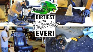 Cleaning The Dirtiest Car Interior Ever! Complete Disaster Farm Truck Car Detailing Ep. 13