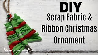 DIY SCRAP FABRIC CHRISTMAS TREE ORNAMENT
