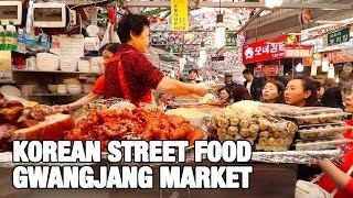 KOREAN STREET FOOD - Gwangjang Market in Seoul | Best Korean Street Food dishes
