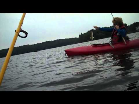 Webber Pond in Maine Bass Fishing with the Zombies 2.mp4