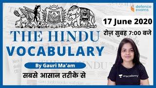 7:00 AM - The Hindu Editorial Vocabulary by Gauri Ma'am | 17 June 2020 | The Hindu Vocabulary
