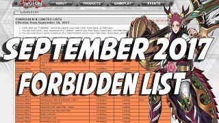 Yu-Gi-Oh September 2017 TCG Forbidden List!!! Zoodiac & True Draco Hit!! Maxx C At 1 Still!!