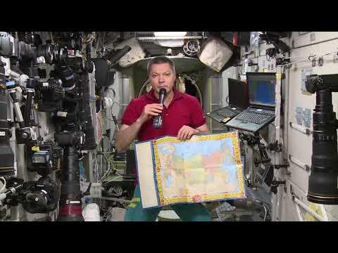 Олег Кононенко поздравляет с Днем космонавтики с борта МКС