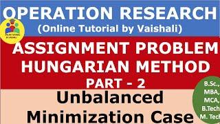 unbalanced assignment problem