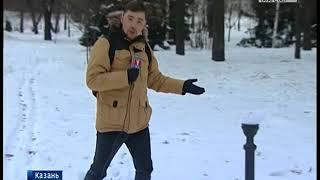 """Вандалы разгромили казанский парк """"Черное озеро"""""""