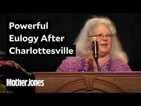 Heather Heyer's mother just delivered a powerful eulogy