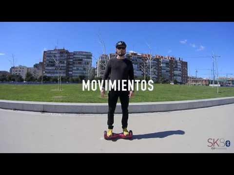 Patinete hoverboard eléctrico SK8 GO BT gris